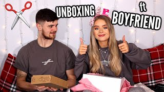 PR PACKAGES UNBOXING WITH MY BOYFRIEND!!