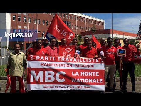 Manif du Parti travailliste: Plus d'une centaine d'activistes massés devant les locaux de la MBC
