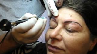 Tatuaj sprancene fir cu fir Zarescu Dan 0745001236 machiaj permanent http://www.machiajtatuaj.ro