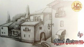 HOW TO DRAW SCENERY OF LIGHT AND SHADE |PENCIL SKETCH ||UB