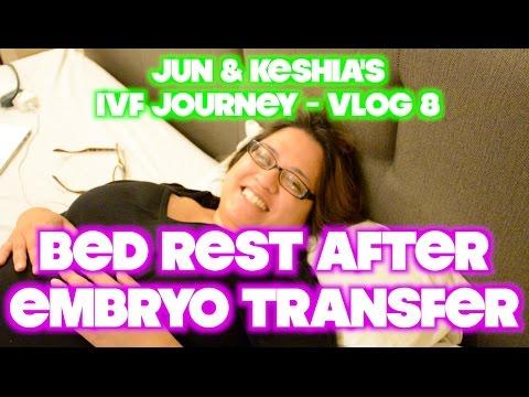 Bed Rest after Embryo Transfer - Jun & Keshia's IVF Journey - IVF Vlog 8