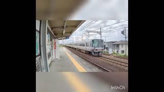 JR西日本 琵琶湖線 普通電車 4K HDR撮影