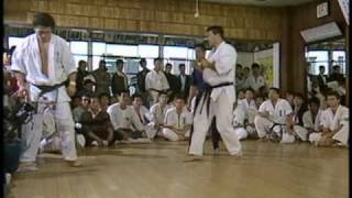 Some greagt sparring from Matsui Shokei. Mas Oyama is watching of c...