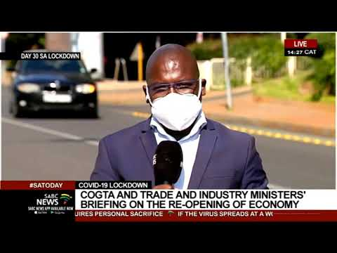 SA Lockdown Day 30 | COGTA, Trade and Industry ministries' briefing on Risk-Adjusted Strategy