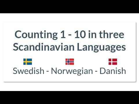 Swedish Vs Norwegian Danish Counting 1 To 10