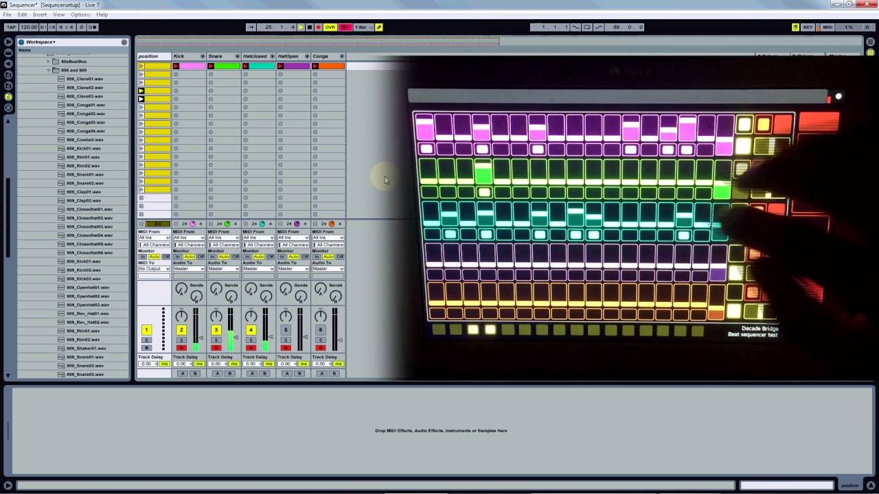 touchosc templates ableton - touchosc ableton 1 beat sequencer youtube