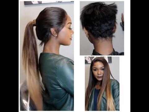 360 Frontal on Short Hair! X LuvMe Hair(Balayage Color)