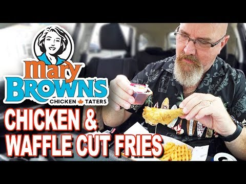 🍗 Chicken & Waffle Cut Fries  Sweet Marys Hot Dessert  Mary Brown's