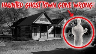 HAUNTED GHOST TOWN EXPLORE AT 3 AM GONE WRONG!! FT OMARGOSHTV