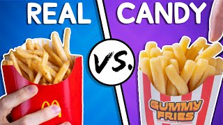 We Try the Ultimate Real vs Candy Challenge #3
