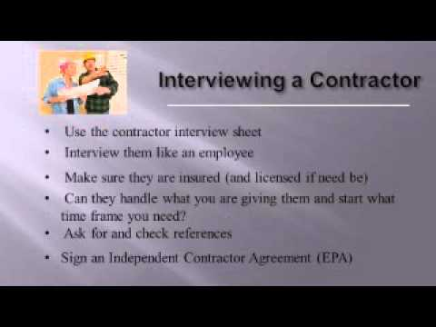 Finding and Hiring Contractors  - Real Estate Investing