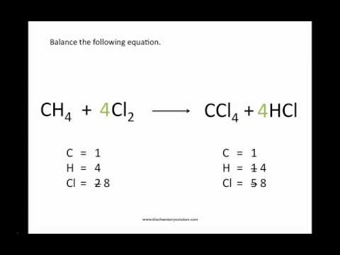 Balancing Chemical Equations – Chemistry Tutorial