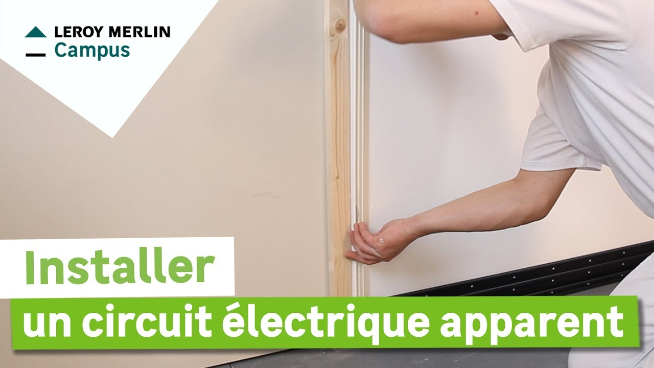 comment installer un circuit lectrique apparent leroy merlin youtube. Black Bedroom Furniture Sets. Home Design Ideas