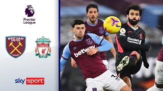 Salah mit zwei Bilderbuch-Buden | West Ham United - FC Liverpool 1:3 | Highlights - Premier League