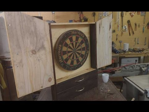 Jordswoodshop Build A Dartboard Cabinet Pt 2 Of 2