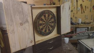 Jordswoodshop - Build A Dartboard Cabinet Pt 2 Of 2 (beginner Project)