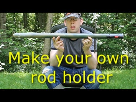 Bank Fishing Rod Holder With Flashlight  - See Your Rod At Night!