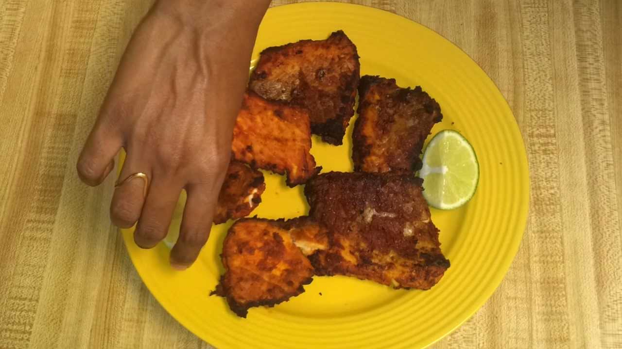 Grilled fish tandoori fish youtube for How to grill fish in oven