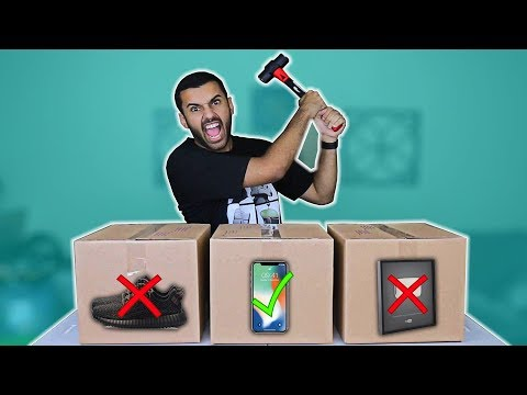 SMASH WHAT'S IN THE BOX CHALLENGE!!! (WORST IDEA EVER!!) Gone horribly... horribly wrong..