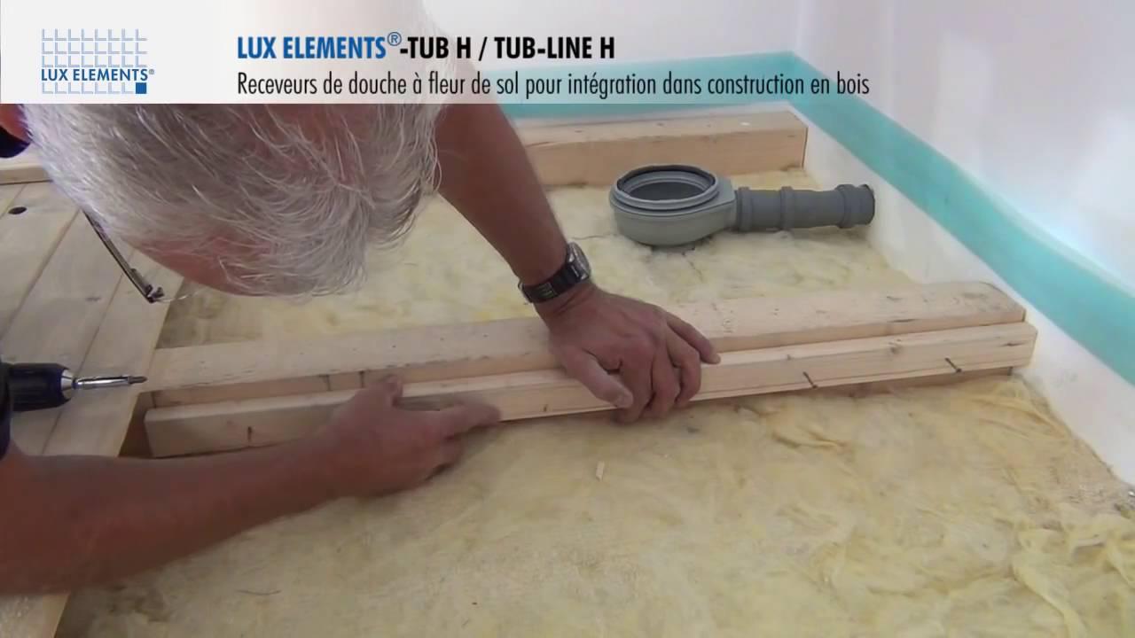 douche a l italienne installation sur construction en bois lux elements