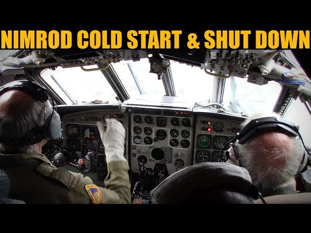 Hawker Siddeley Nimrod: Cold Start & Shut Down | Bruntingthorpe 2019