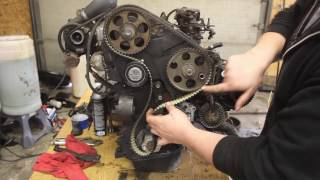 Installing a timing belt and setting pump timing on an AAZ, Similar to an AHU, 1.6d, and 1.6td