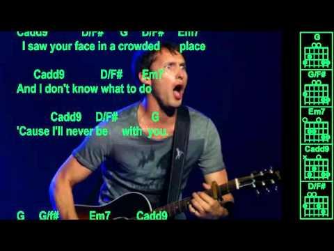 James Blunt - You're Beautiful - Instrumental - Chords & Lyrics