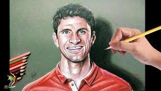 OMG ..!! 3d Drawing - Thomas Muller - German Football Player
