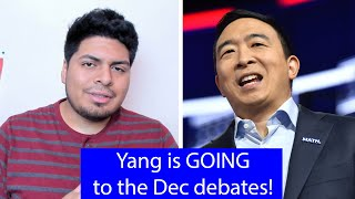 Andrew Yang QUALIFIES For The 6th Democratic Debates!