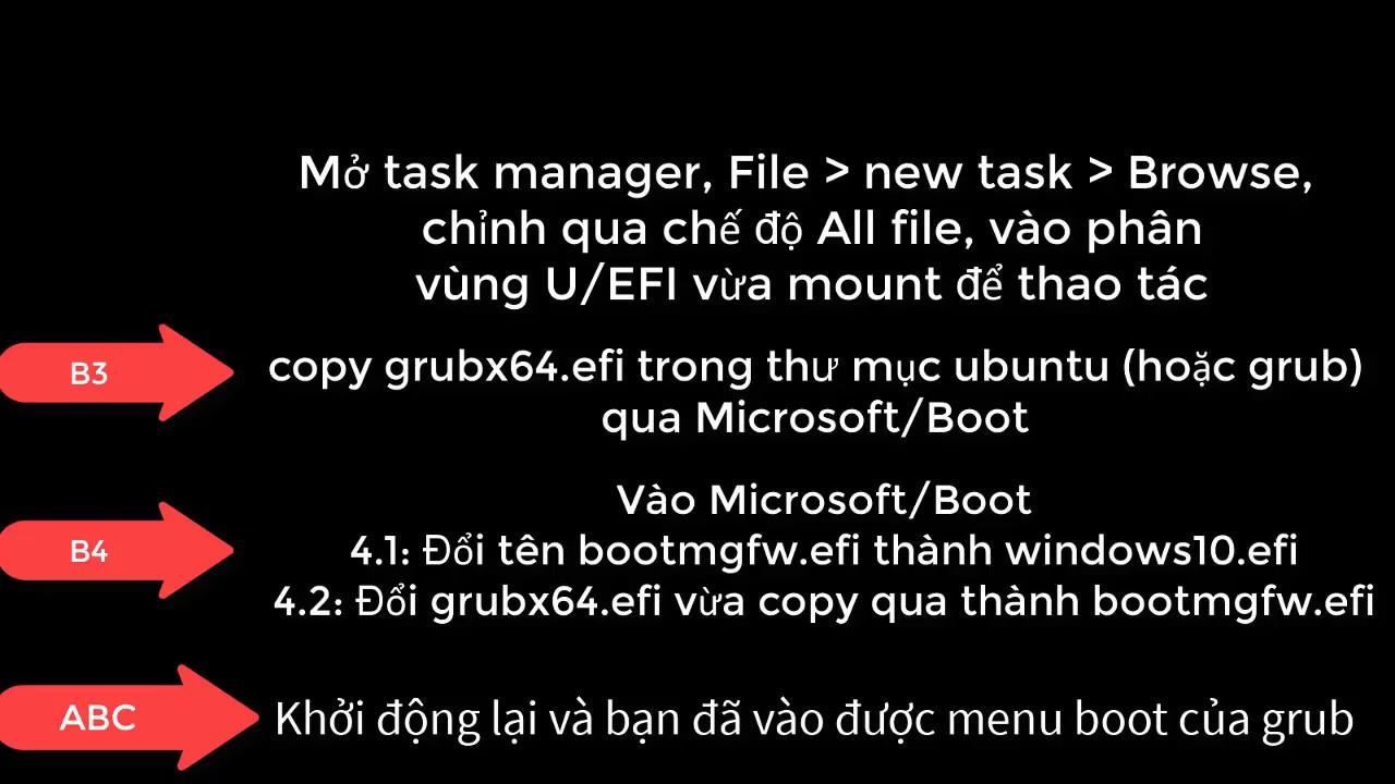 Fix Dualboot Windows 10 + Linux UEFI
