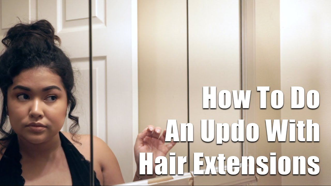 Short Hair Updo With Hair Extensions The Savvy Beauty Youtube