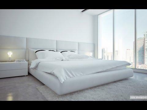 Белая Спальня в Интерьере - фото 2017 /White Bedroom in the interior photo /Weiß Schlafzimmer
