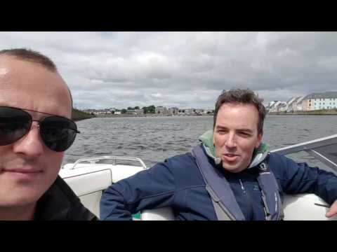 On the water with Frank O'Connor - Galway Bay!