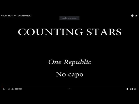 COUNTING STAR  - ONE REPUBLIC
