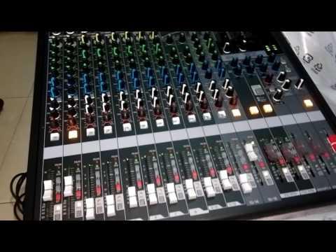 Mixer yamaha MGP 16X đập hộp hát thử karaoke trong nhà