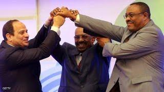 جلسة توقيع وثيقة إعلان مبادئ سد النهضة بالخرطوم بمشاركة مصر والسودان وأثيوبيا 23-03-2015
