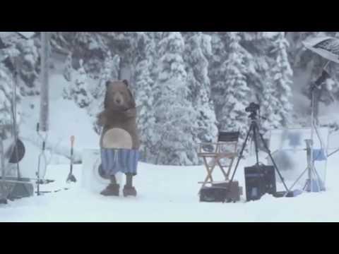 Huge Bear Surprises Samsung Crew On Bc Lake