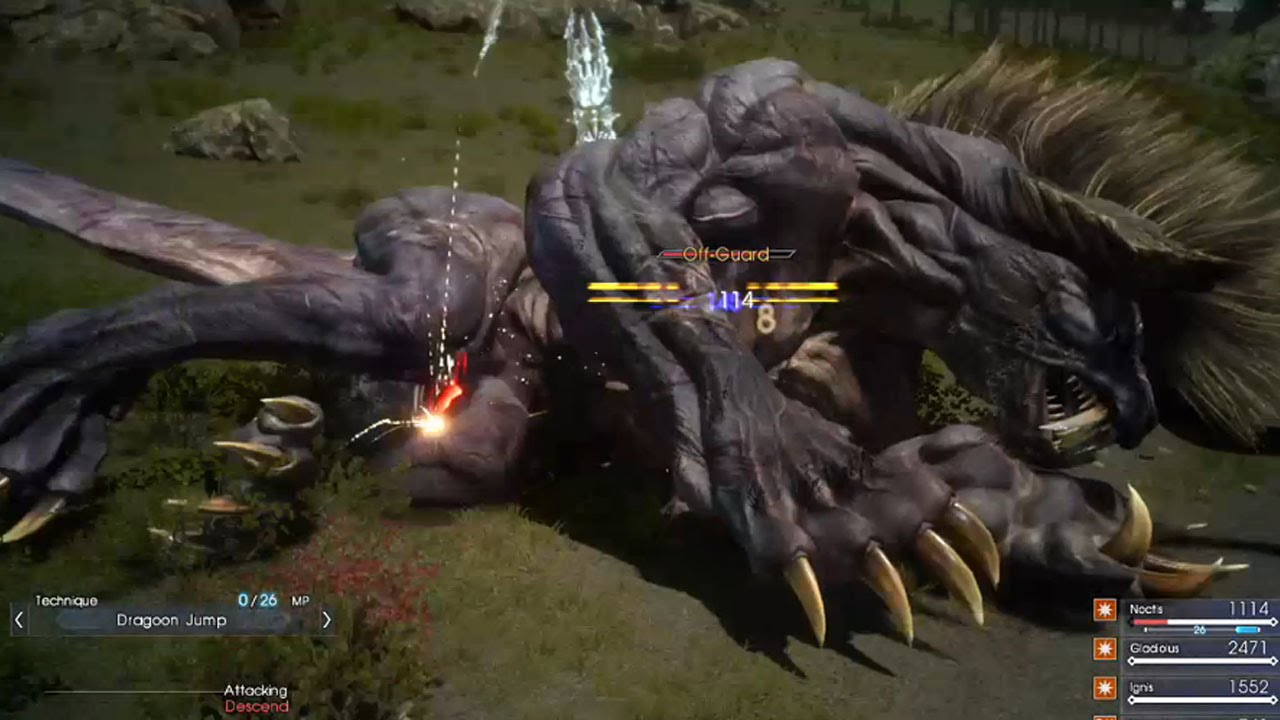 Final Fantasy 15 Episode Duscae - Behemoth fight - YouTube Behemoth Final Fantasy 15