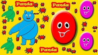Little Baby Fun Learning Colors Shapes for Children Panda Animal Wooden Toys Kids Video Baby Monster