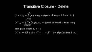 Dynamic Algorithms - Transitive Closure Digraph