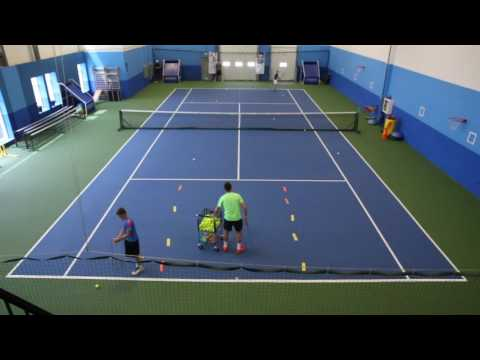 Baseline with attack opportunity in tennis