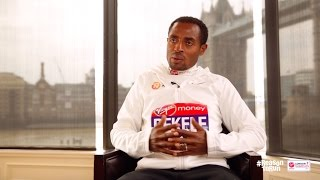 """The crowds are Crazy"" - Kenenisa Bekele Ahead of Virgin Money London Marathon 2017"