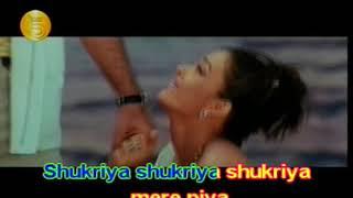 BEST BOLLYWOOD KARAOKE - QUEEN AISHWARYA RAI - SHUKRIYA SHUKRIYA