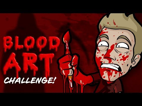 💀 PAINTING with BLOOD 💀 - Spooky VR180 Video!
