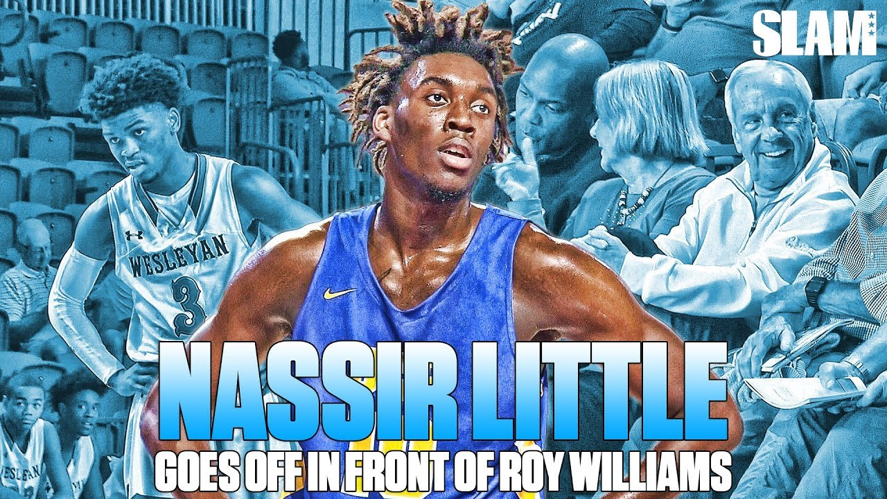68d4483642c UNC Commit Nassir Little PUTS on a SHOW for Coach Roy Williams ...