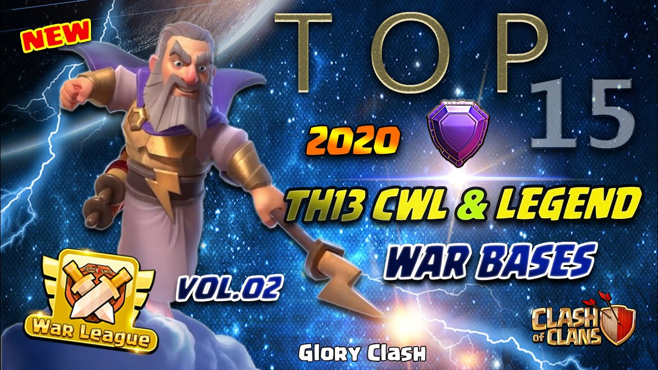 *Amazing* Top 15 Th13 CWL & Legend War Bases 2020 July /Anti Zap/anti 2-3 Star/Clash of clans #524