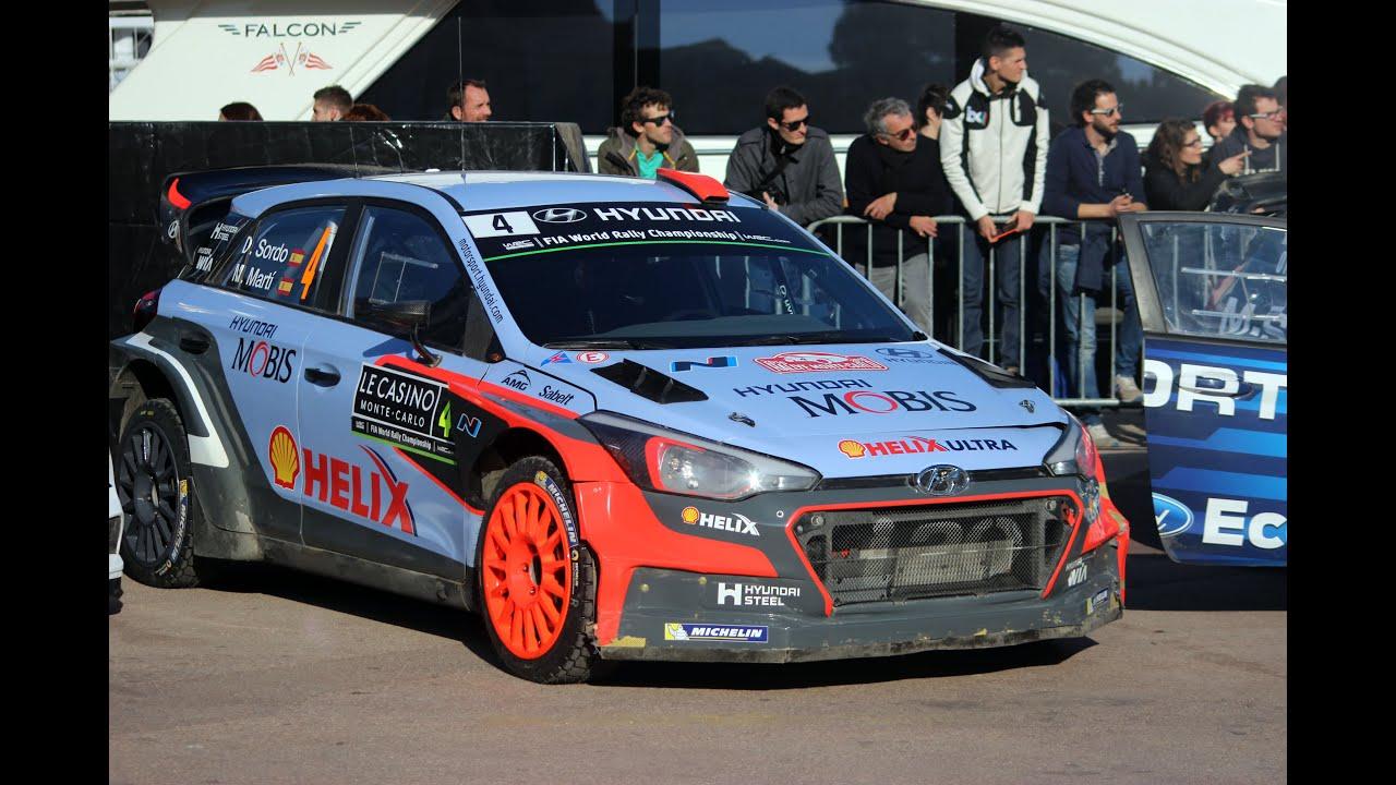 Hyundai i20 WRC (Hyundai World Rally Team) in the streets of Monaco
