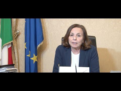 Coronavirus, il messaggio del ministro dell'Interno Luciana Lamorgese