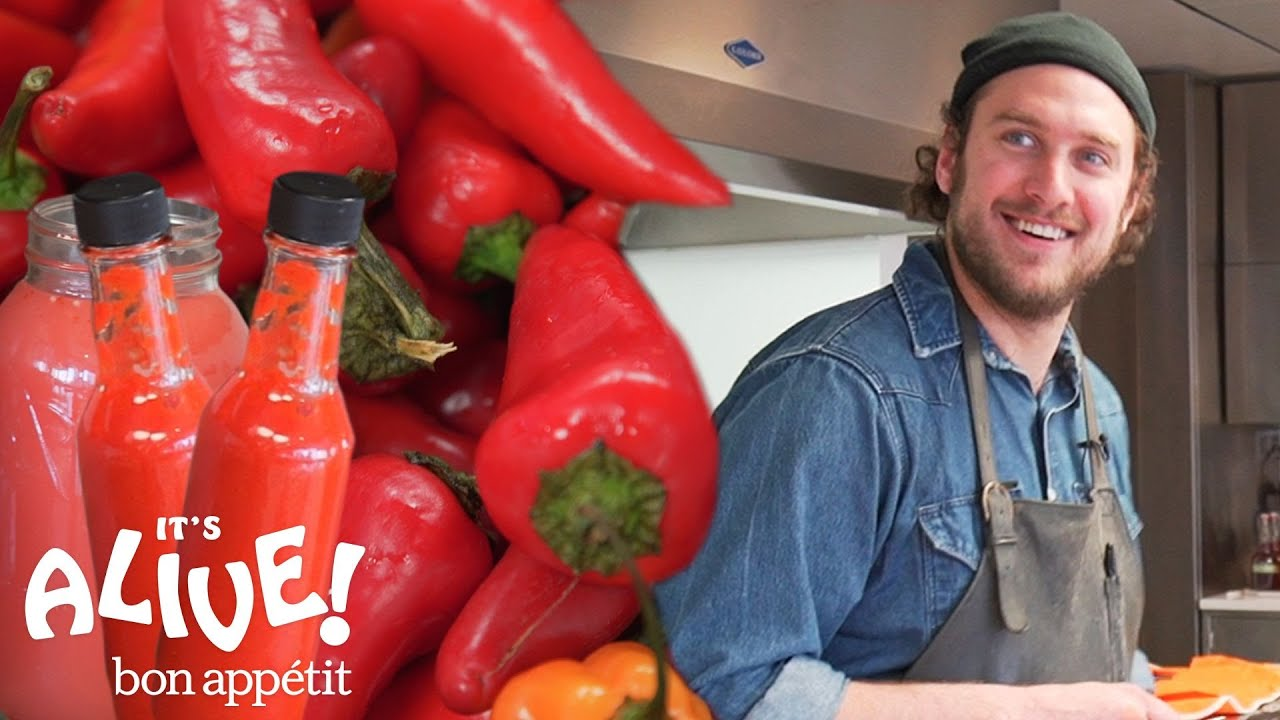 Brad Makes Fermented Hot Sauce | It's Alive | Bon Appétit - YouTube