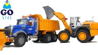 Twinkle, Twinkle Little Star - Toy Bulldozer / Loader & Dump Truck - Nursery Rhyme Trucks - GoKids